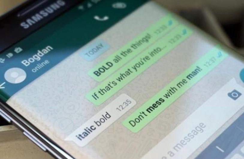 Cara mengganti bentuk tulisan di WhatsApp (Kompas)