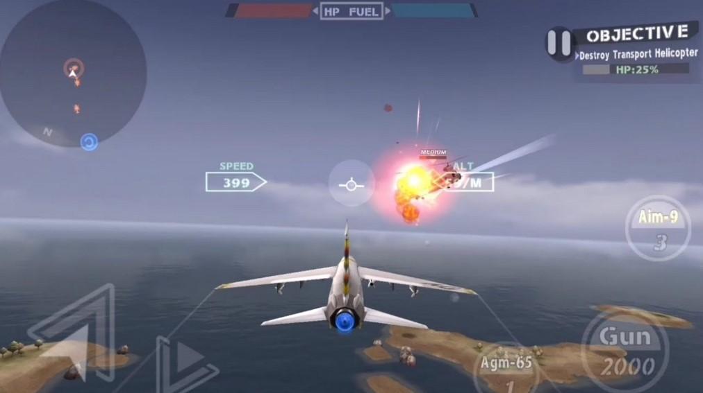 Game pesawat tempur Android (YouTube)