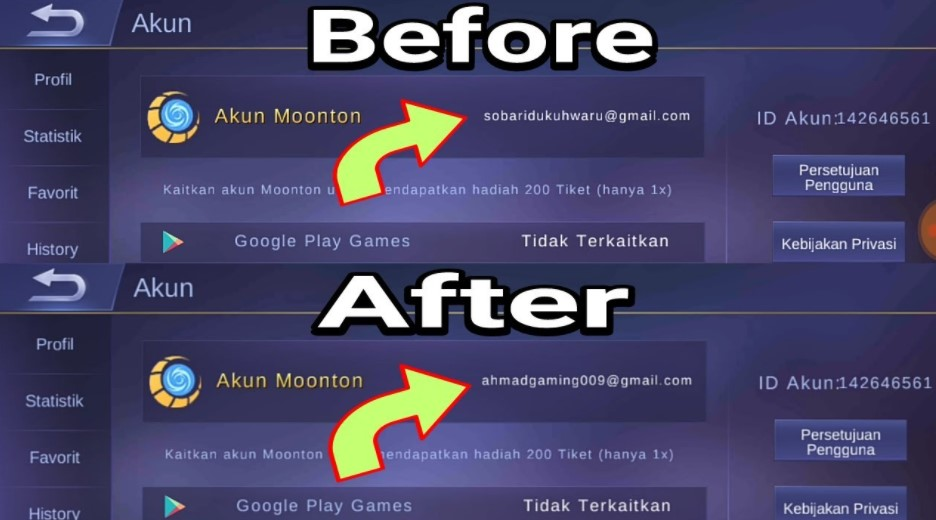 Cara Unbind Akun Mobile Legend Terlengkap Moonton Vk Fb Atau Google Play Droila