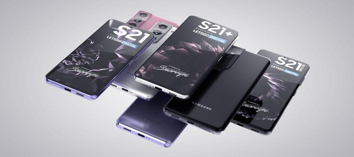 Render bocoran desain Samsung Galaxy S21 (GSMArena)