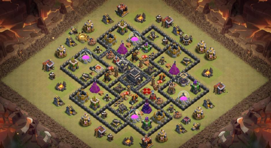 Pertahanan CoC yang kuat (Base of Clans)